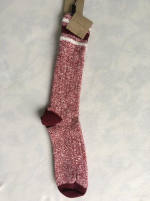Burberry London Legwarmers bordeaux-white cotton