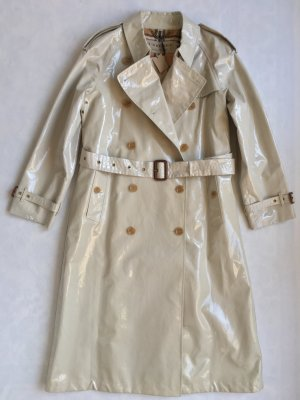 Burberry London Trenchcoat blanc cassé coton