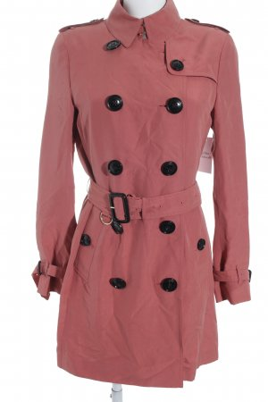 "Burberry London Gabardina ""Kensignton Mid Trech Coat Bright Cooper Pink 36"""