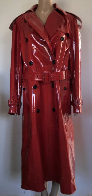 Burberry London Cappotto in pelle rosso scuro Pelle