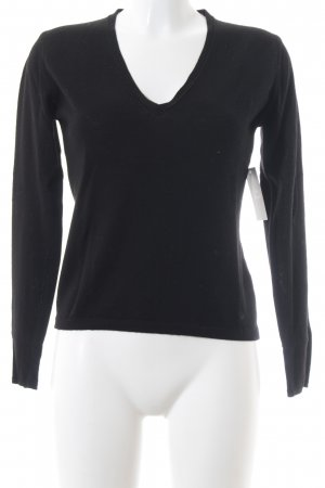 Burberry London V-Ausschnitt-Pullover schwarz klassischer Stil