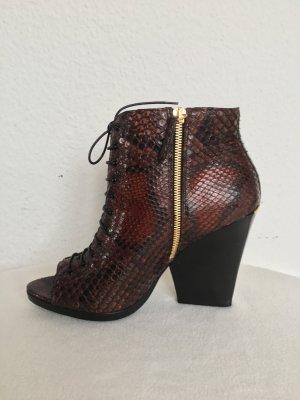 Burberry London Low boot brun rouge reptiles