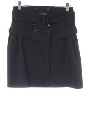 Burberry London Jupe portefeuille noir Boutons extravagants
