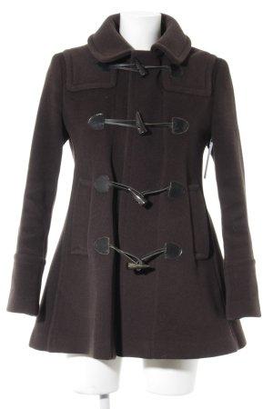 Burberry London Cappotto in lana marrone stile classico