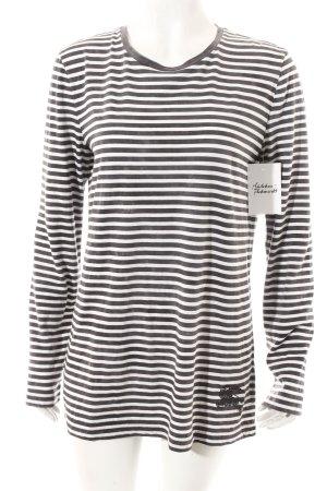 Burberry Longsleeve weiß-graublau Streifenmuster Casual-Look