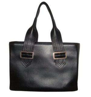 Burberry Luxus Tasche Shopper Handtasche mit Pochette Leder schwarz silber neu
