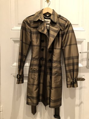 Burberry Trench Coat brown-green grey
