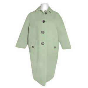 Burberry Manteau en laine vert clair cachemire