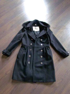 BURBERRY Mantel aus schwarzer Wolle