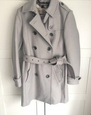 Burberry Brit Wool Coat silver-colored