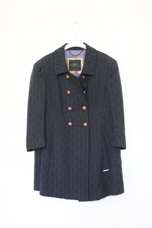 Burberry Mantel Kurzmantel Blazer Vintage Look Car Coat Navy Dunkelblau Gr. M