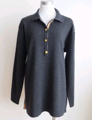 Burberry Knitted Sweater anthracite-grey merino wool