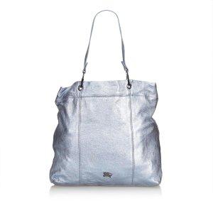 Burberry Metallic Leather Tote Bag