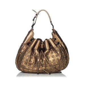 Burberry Shoulder Bag gold-colored leather