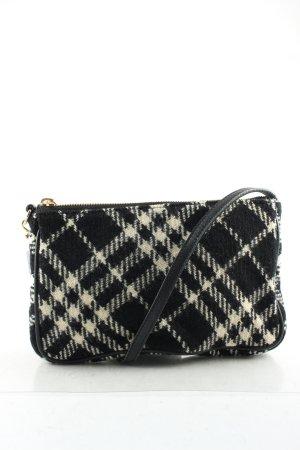 Burberry Minitasche schwarz-wollweiß Karomuster Elegant