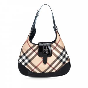 Burberry Nova Check Canvas Brooke Hobo Bag