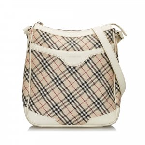 Burberry Nova Check Canvas Crossbody Bag