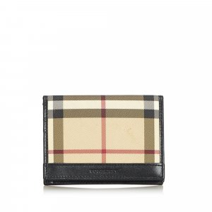 Burberry Card Case beige polyvinyl chloride