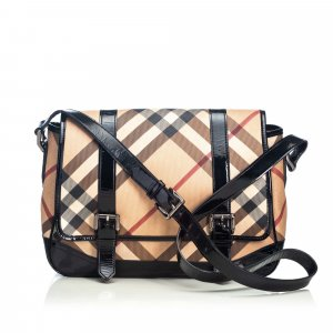 Burberry Nova Check Coated Canvas Newton Messenger Bag