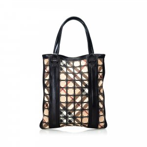 Burberry Nova Check Coated Canvas Warrior Tote Bag