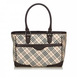 Burberry Nova Check Cotton Handbag