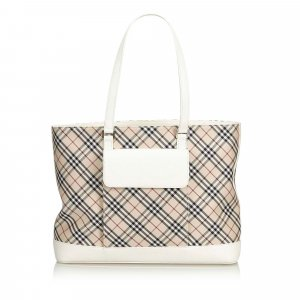 4f4c369c32b29 Burberry Nova Check Cotton Tote Bag
