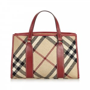 Burberry Nova Check Hemp Handbag