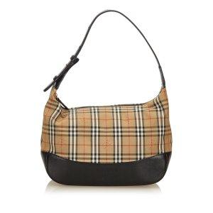 Burberry Nova Check Jacquard Shoulder Bag
