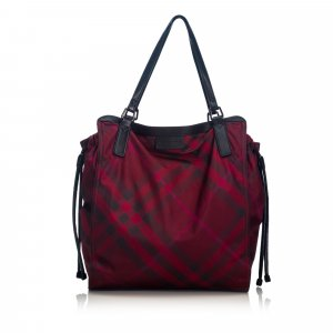 Burberry Nova Check Nylon Buckleigh Tote Bag