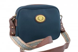 Burberry Shoulder Bag blue textile fiber