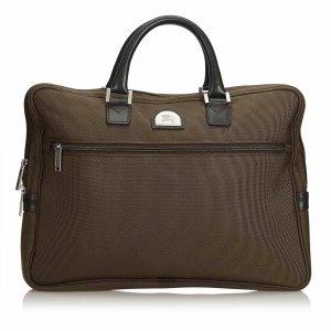 Burberry Business Bag dark green nylon
