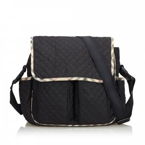 Burberry Nylon Diaper Crossbody Bag