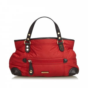 Burberry Handbag red nylon