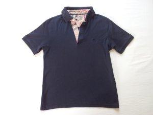 Burberry Polo Shirt dark blue cotton