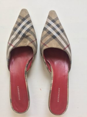 Burberry Heel Pantolettes light brown-bordeaux