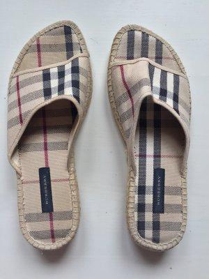Burberry Heel Pantolettes natural white-bordeaux