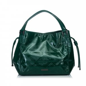 Burberry Handbag green imitation leather