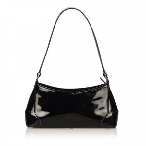 Burberry Patent Leather Shoulder Bag