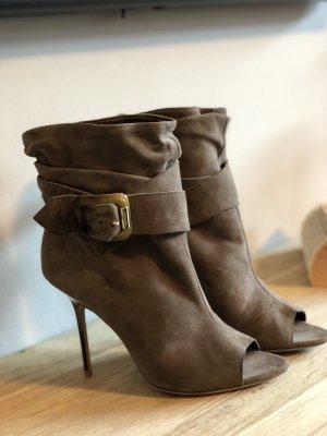 Burberry Peep-Toe Stiefel Boots echt Leder Ankle Boots 40