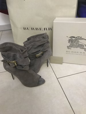 Burberry Peep-Toe Stiefel Boots echt Leder