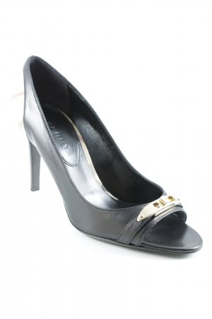 "Burberry Peep Toe Pumps ""Haymarket Bayning 85 Peep Toe Pump"""
