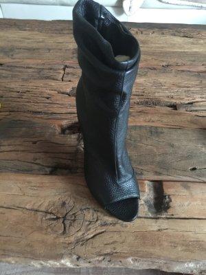 Burberry Peep Toe laarsjes zwart