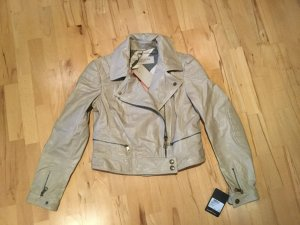 Burberry Biker Jacket beige-gold-colored leather