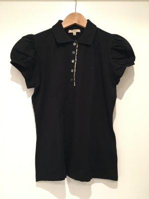 Burberry Piqué-Poloshirt in schwarz