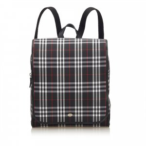Burberry Plaid Canvas Backpack