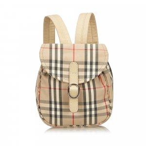 Burberry Plaid Cotton Backpack