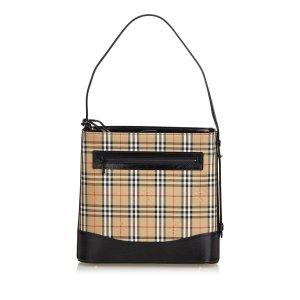 Burberry Plaid Cotton Shoulder Bag
