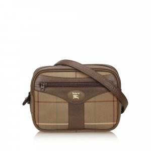 Burberry Plaid Cotton Shoulder Bag