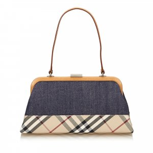 Burberry Plaid Denim Handbag