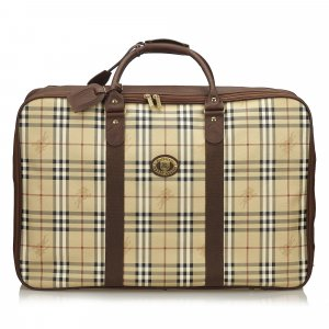 Burberry Plaid Duffel Bag